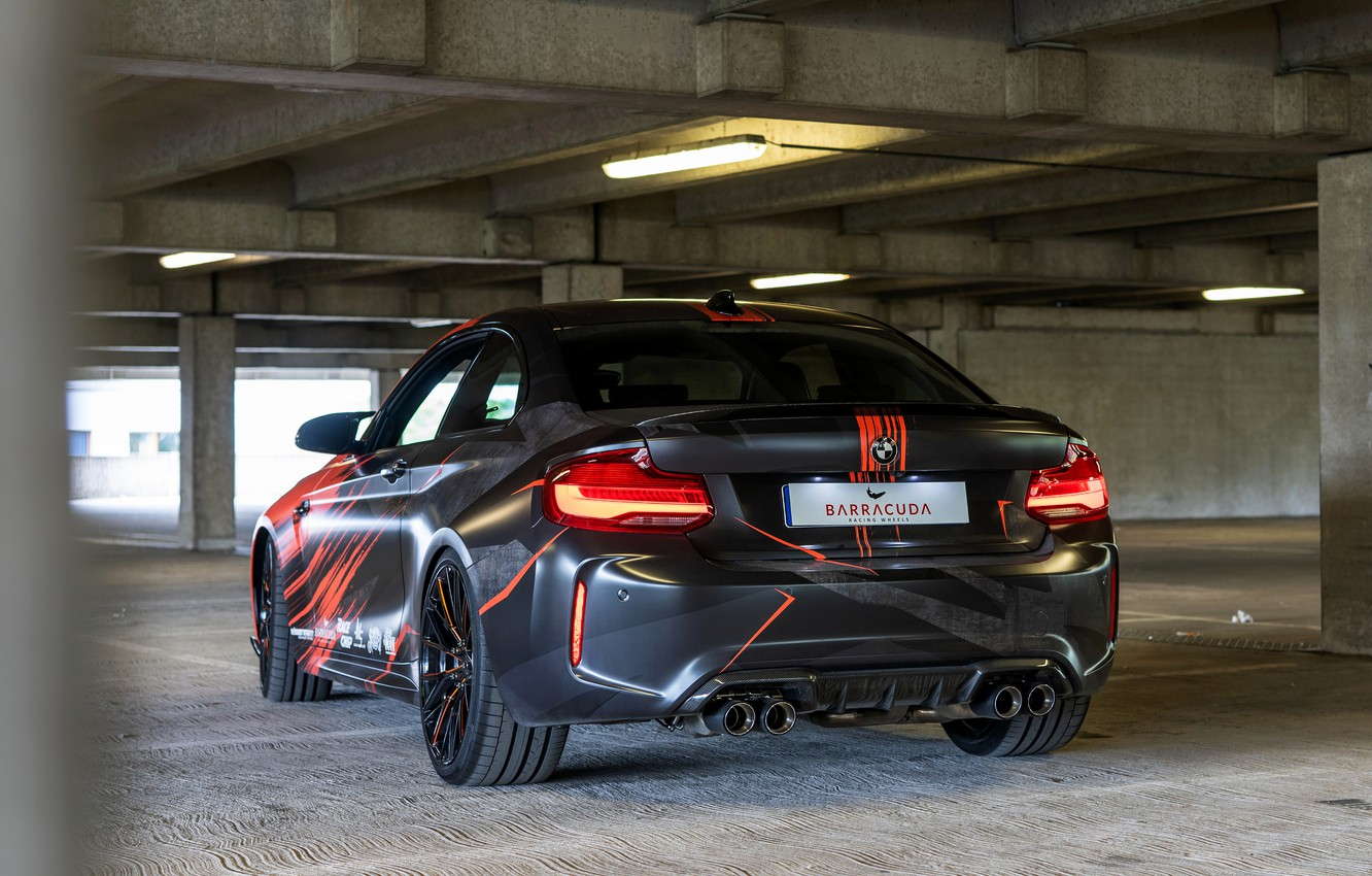 Photo wallpaper tuning, coupe, BMW, rear view, 2020, F87, M2, BMW M2, M2 Competition, JMS vehicle parts