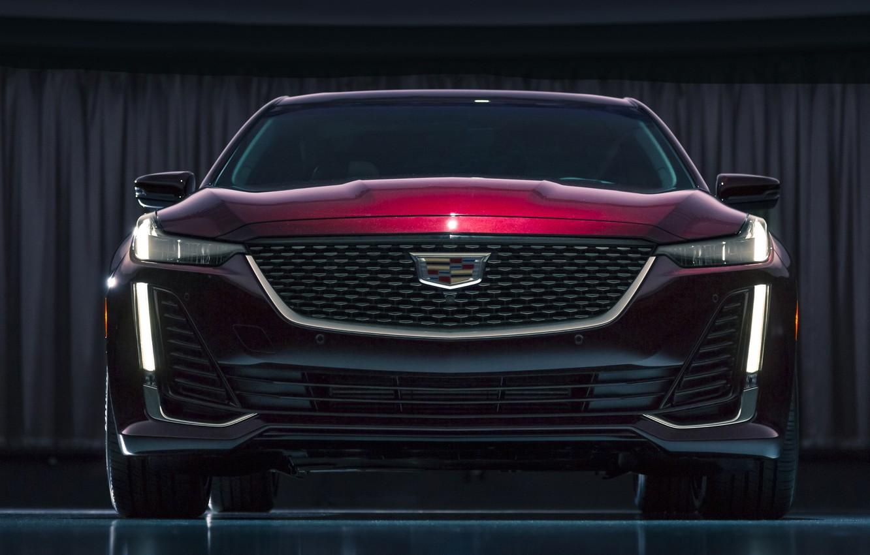 Photo wallpaper Cadillac, front view, 2020, Premium Luxury, CT5