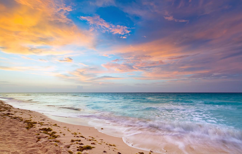 Photo wallpaper sand, coast, Sea