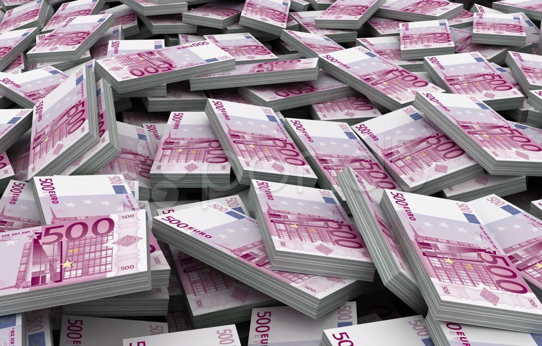 Photo wallpaper money, Euro, 500