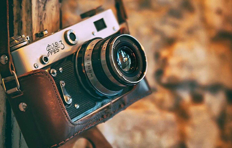 Photo wallpaper camera, the camera, bokeh, Fed-3