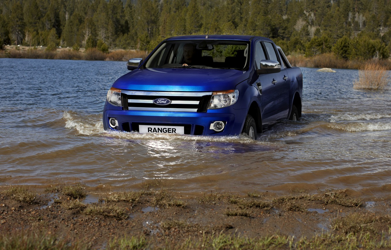 Photo wallpaper blue, river, Ford, pickup, Ranger, Ford