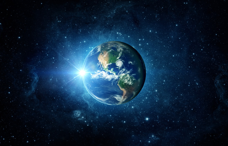Photo wallpaper light, Earth, planet