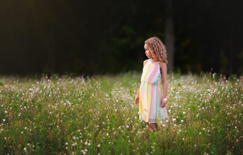 Photo wallpaper summer, nature, girl