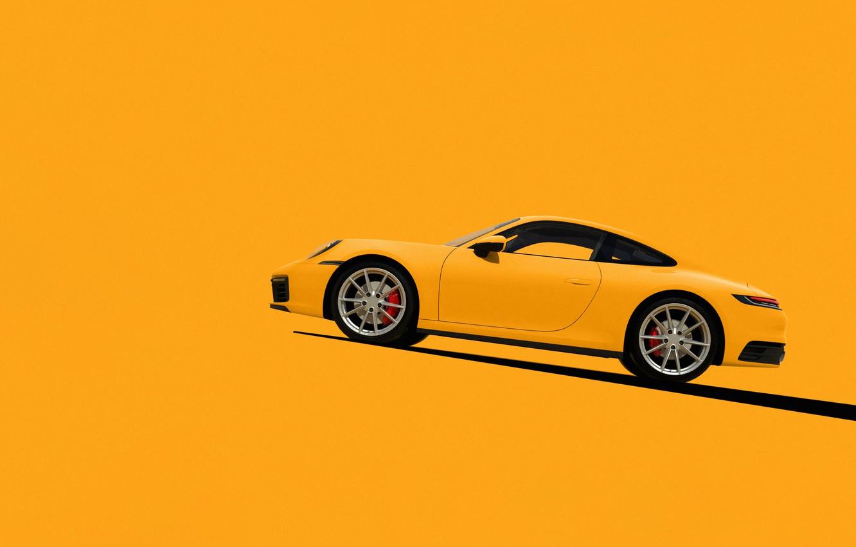 Photo wallpaper Auto, 911, Machine, Render, Porsche 911, Rendering, Supercar, Porsche 911 Carrera S, Side view, Transport …