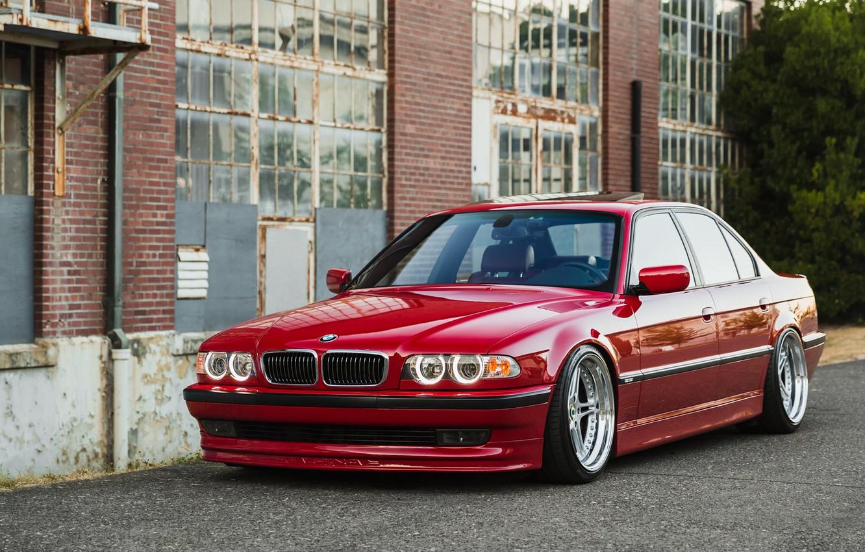 Photo wallpaper BMW, 740, RED, E38