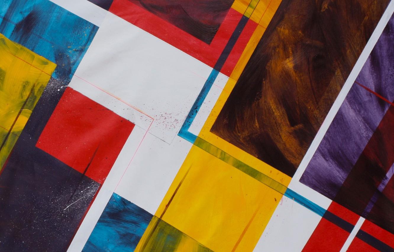Photo wallpaper line, pattern, paint, square
