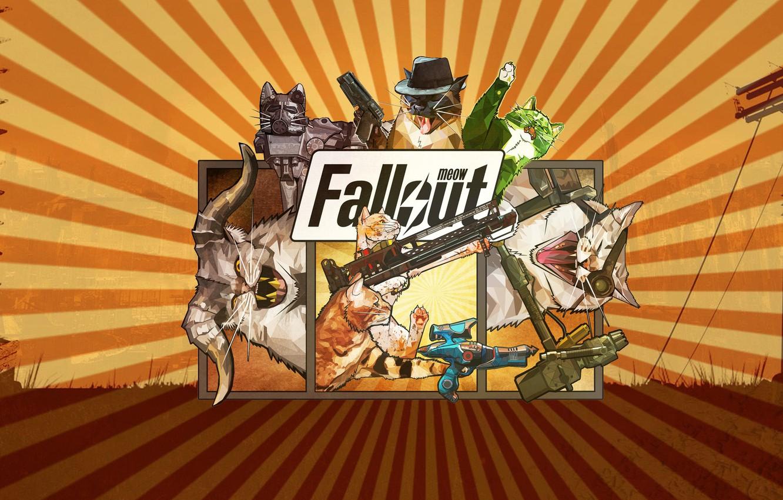 Photo wallpaper Cats, Fallout, Art, Cats, Meow, Meow Fallout