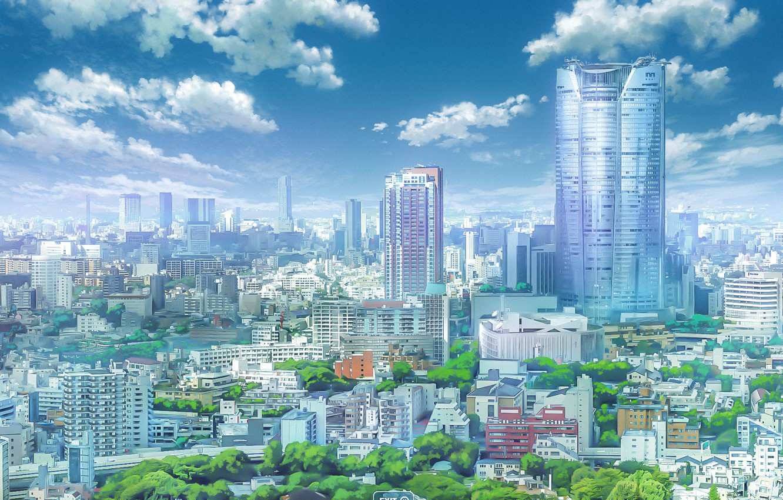 Photo wallpaper the sky, the city, Your Name, Kimi No VA On