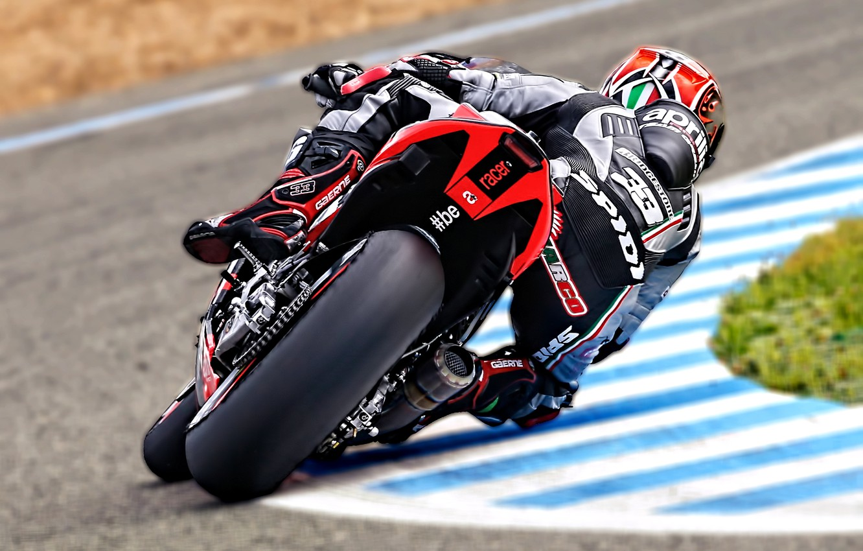 Photo wallpaper speed, turn, motorcycle, bike, racer