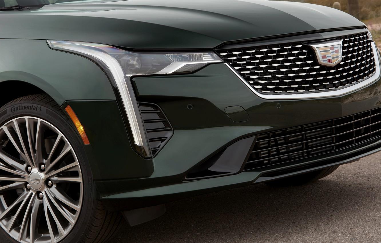 Photo wallpaper Cadillac, before, sedan, four-door, 2020, CT4