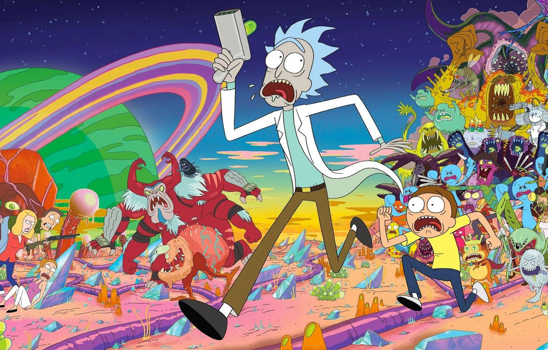 Photo wallpaper Monsters, Smith, Cartoon, Aliens, Sanchez, Rick, Rick and Morty, Rick and Morty, Morty, Rick Sanchez, …