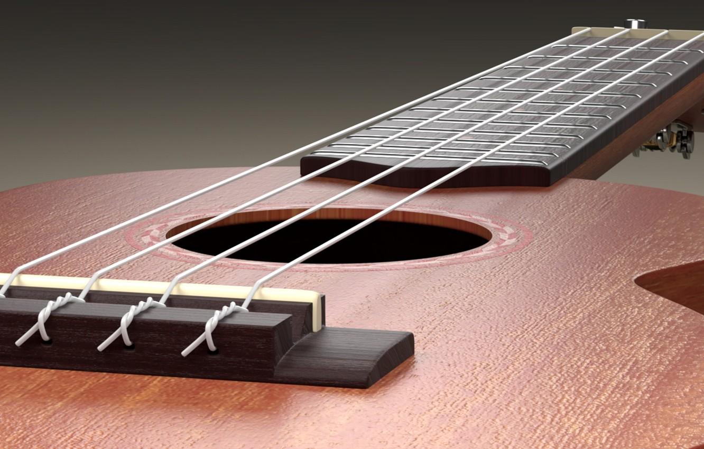 Photo wallpaper guitar, strings, tool