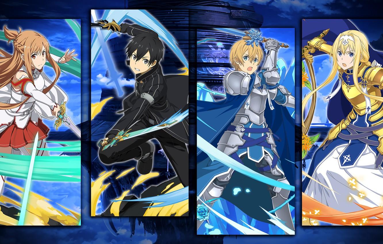 Wallpaper Collage Characters Sword Art Online Sword Art Online