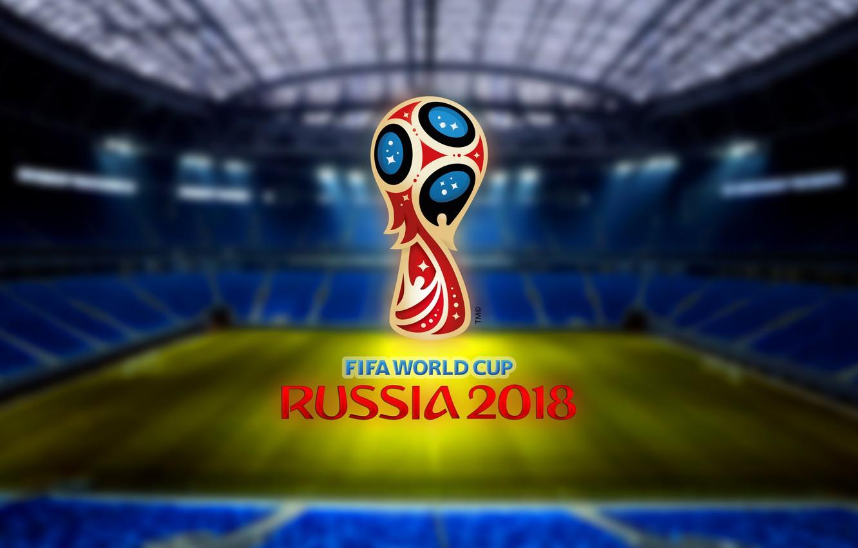 Photo wallpaper Sport, Logo, Football, Saint Petersburg, Logo, Russia, Zenit, 2018, Stadium, FIFA, FIFA, SPB, St. Petersburg, …