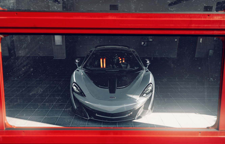 Photo wallpaper McLaren, sports car, boxes, Novitec, 600LT