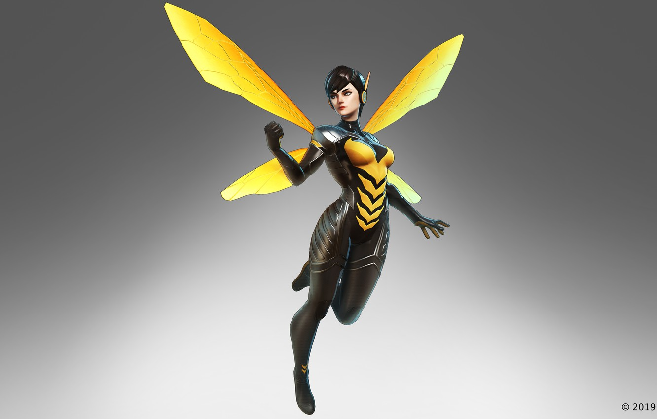 Wallpaper marvel, wasp, Janet van Dyne, the black order, marvel