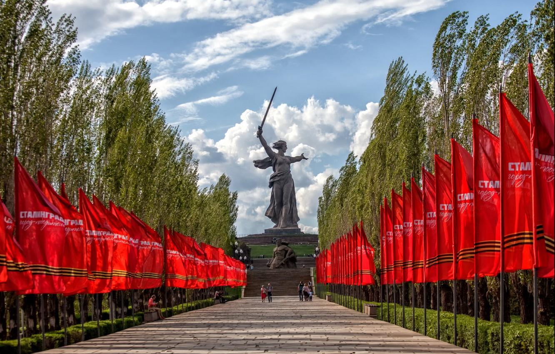 Photo wallpaper victory, USSR, communism, May 9, The Great Patriotic War, Memory, Stalingrad, Volgograd, Mamaev Kurgan, Motherland