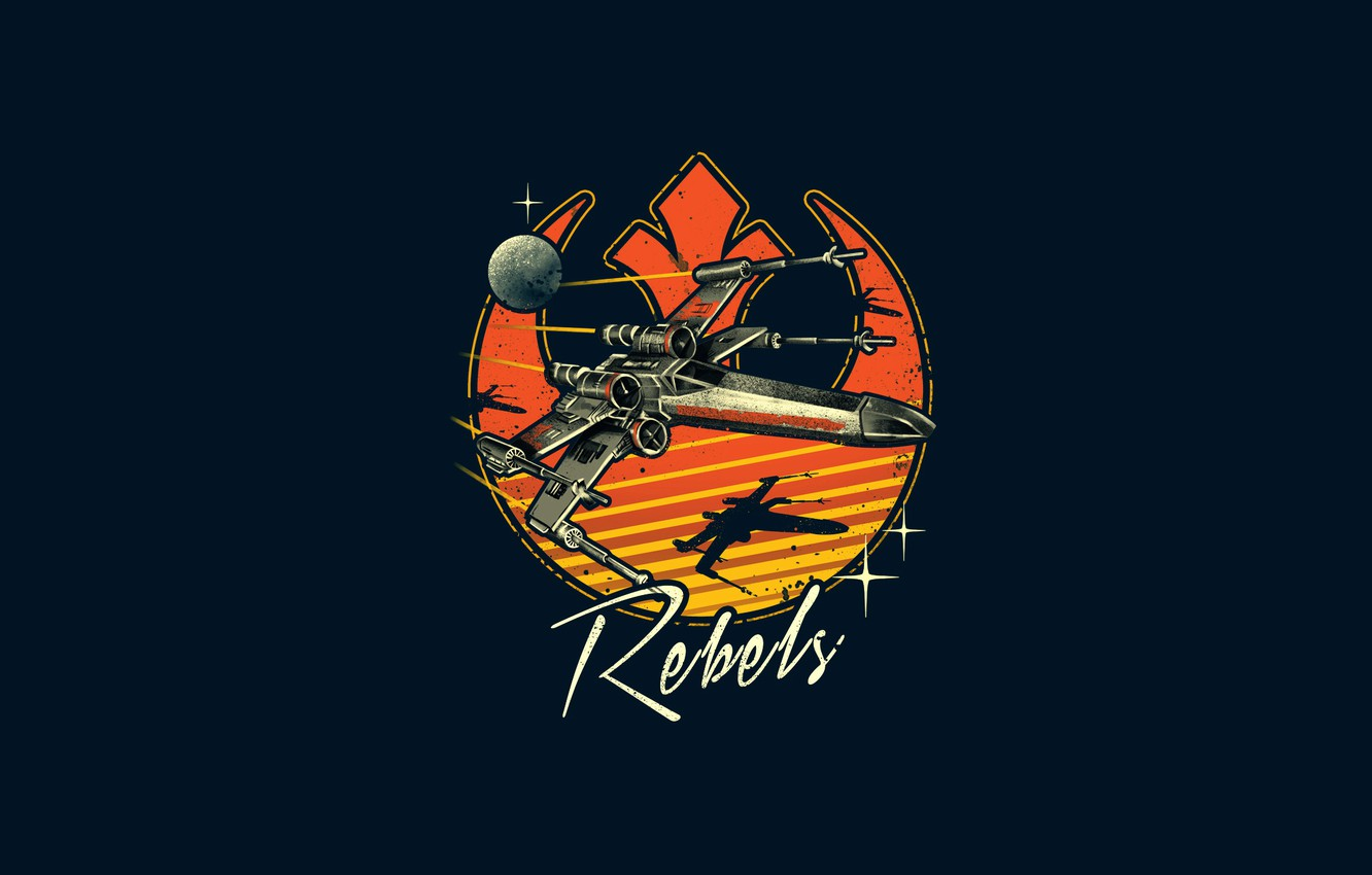 retro rebels rebels space ship in retro style t 65 x wing