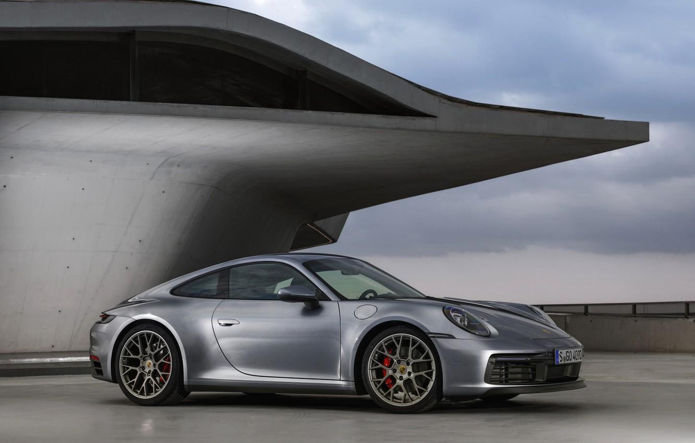 Photo wallpaper roof, coupe, 911, Porsche, Carrera 4S, 992, 2019