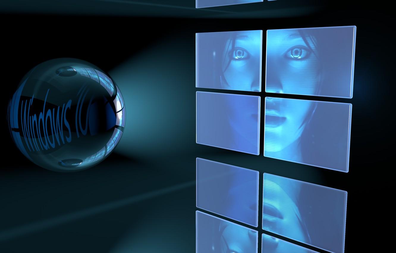 Photo wallpaper Girl, windows, Windows 10
