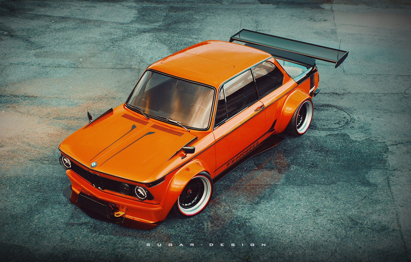 Wallpaper Auto Retro Bmw Machine Tuning Boomer Style Orange Car 2002 Rendering Bmw 2002 Turbo Bmw 2002 Bmw Turbo Transport Vehicles By Sugar Chow Images For Desktop Section Bmw Download