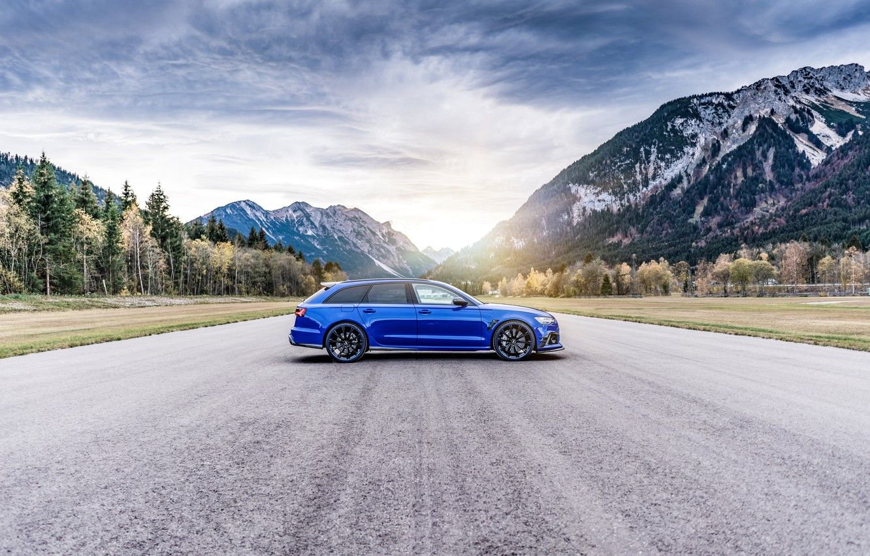 Photo wallpaper Audi, 2018, ABBOT, universal, RS6, Nogaro Edition