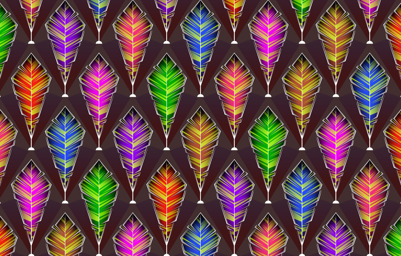 Photo wallpaper background, graphics, texture, feathers, digital art