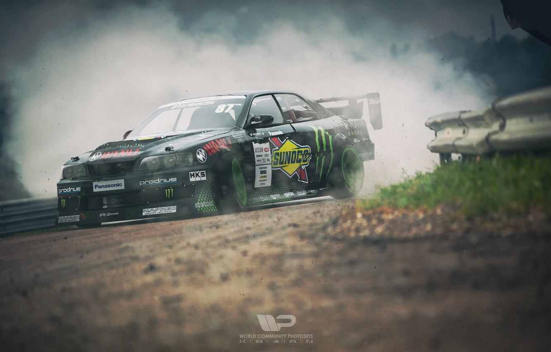 Photo wallpaper Auto, Smoke, Machine, Drift, Toyota, Rendering, Chaser, Toyota Chaser, Polischuk Who Stayed, by Kal'yan Polischuk, …