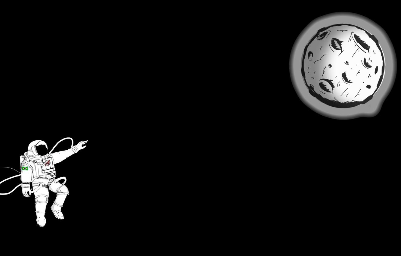 moon astronaut spacesuit hemlmet simple background black bac