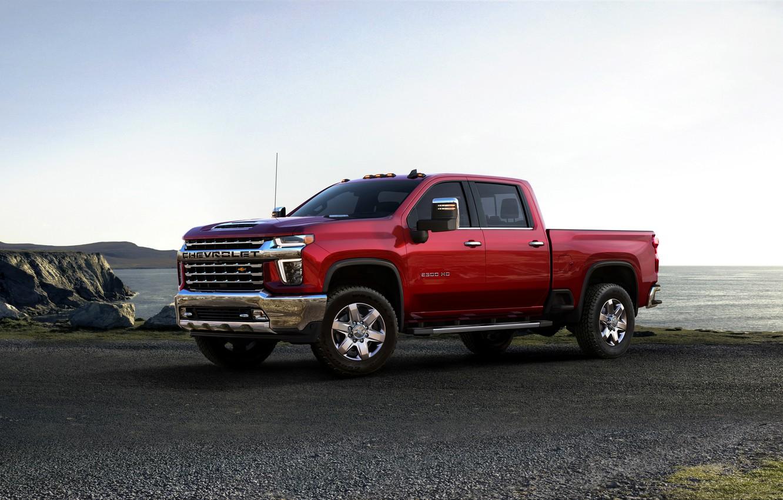 Photo wallpaper coast, Chevrolet, pickup, Silverado, 2020, 2500 Heavy Duty