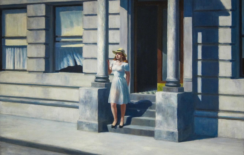 Photo wallpaper Edward Hopper, 1943, Summertime