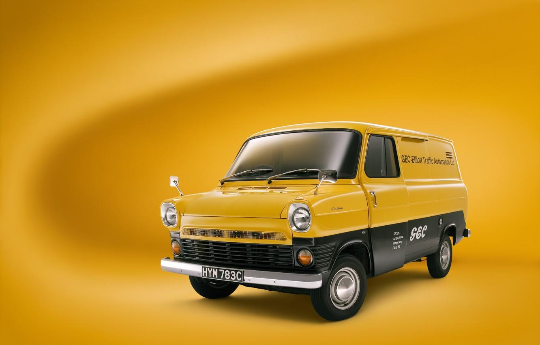 Photo wallpaper ford, yellow, transit
