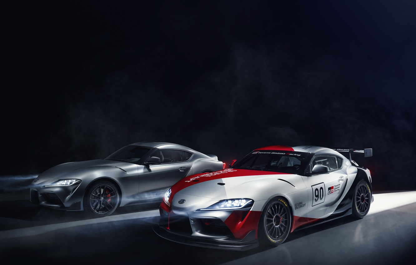Photo wallpaper light, machine, coupe, concept, sports car, Toyota, GT4, GR Above