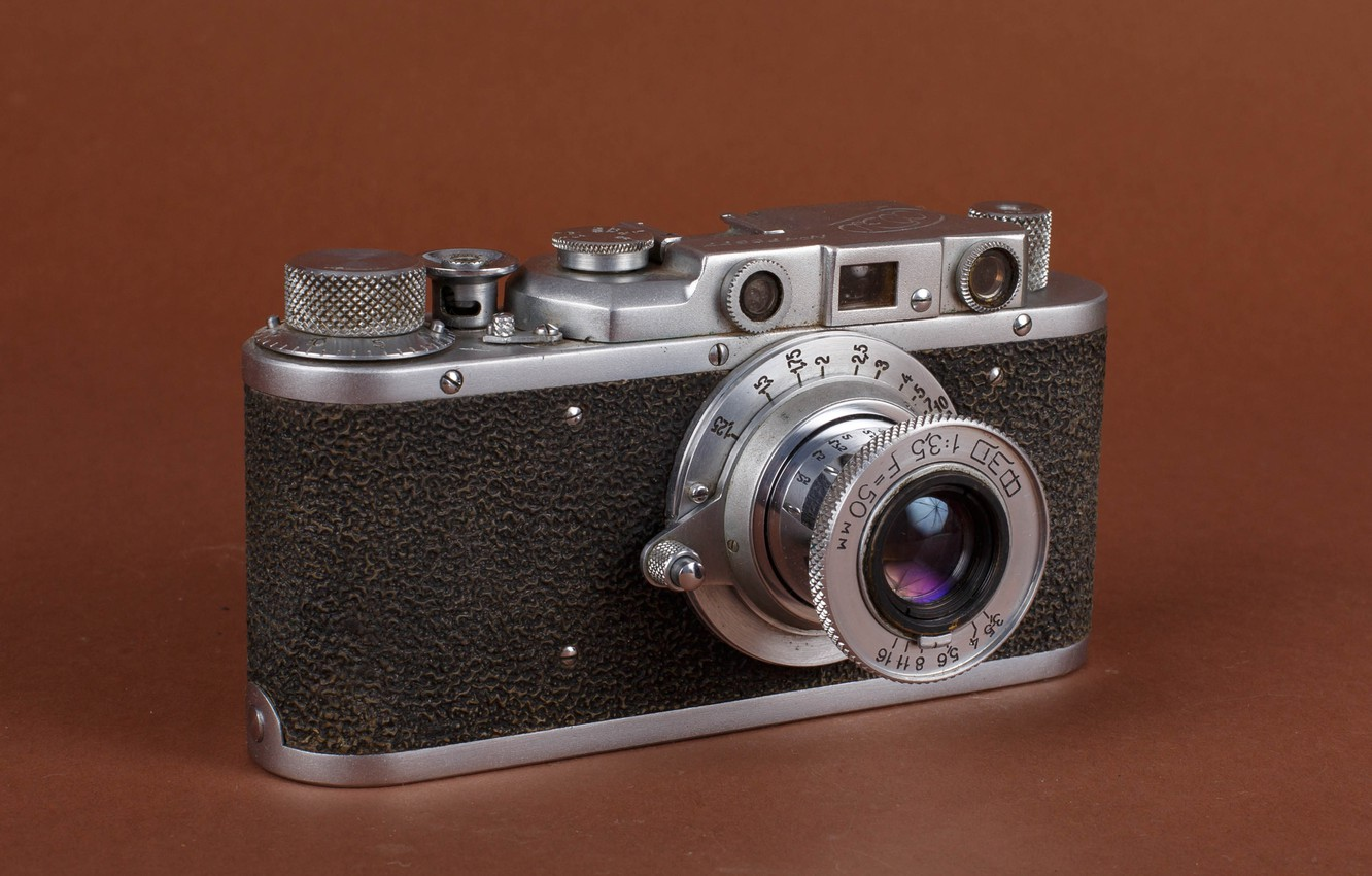 Photo wallpaper photo, USSR, Fed, old camera