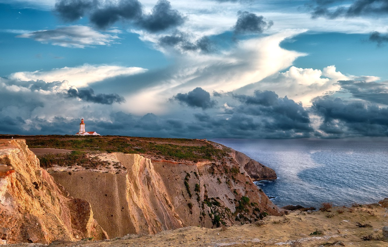 Photo wallpaper landscape, portugal, Cape Espichel's Lighthouse