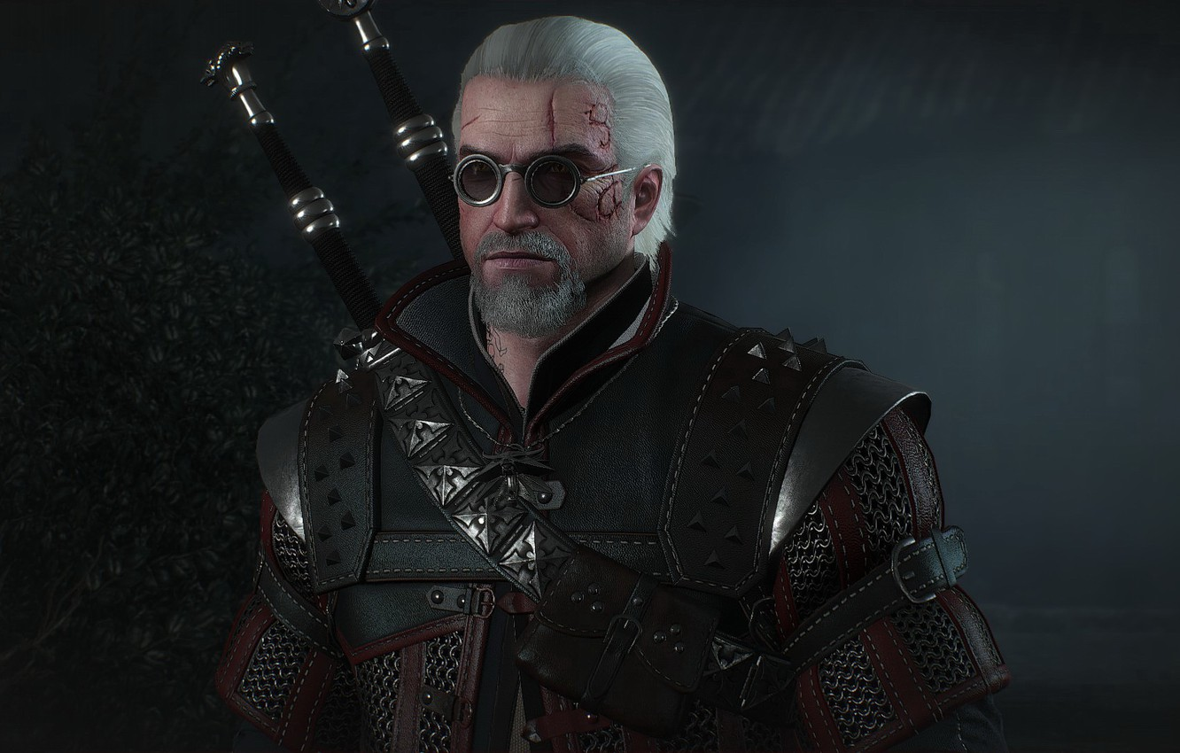 Photo wallpaper armor, glasses, armor, swords, the Witcher, Geralt, hunter, the protagonist, The Witcher 3 Wild Hunt, …