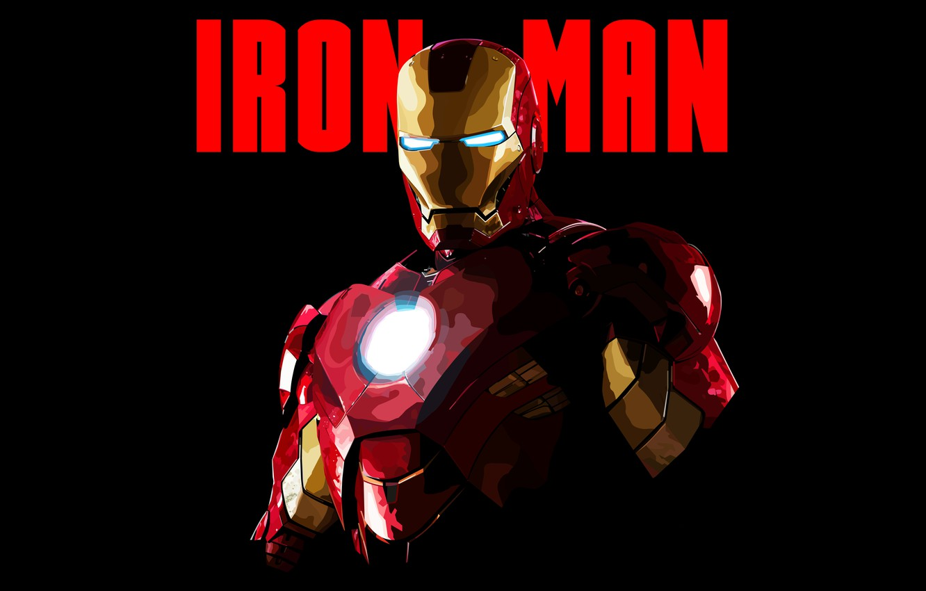 Photo wallpaper Minimal, Iron Man, Wallpaper, Artwork