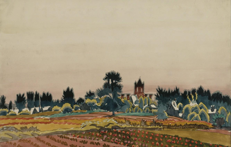 Photo wallpaper 1916, Charles Ephraim Burchfield, Past Noon