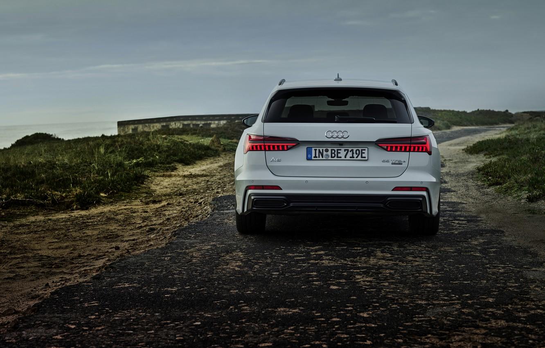Photo wallpaper white, Audi, rear view, hybrid, universal, Audi A6, 2020, A6, A6 Avant, 55 TFSI and …