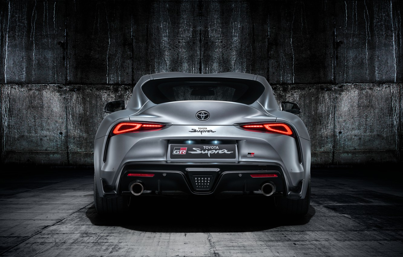 Photo wallpaper Toyota, rear view, Supra, 2019, Toyota GR Above, GR Above, A90
