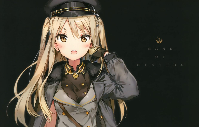 Photo wallpaper cap, military uniform, Houkago no Pleiades, houkago in the pleiades, nanako, by Anmi