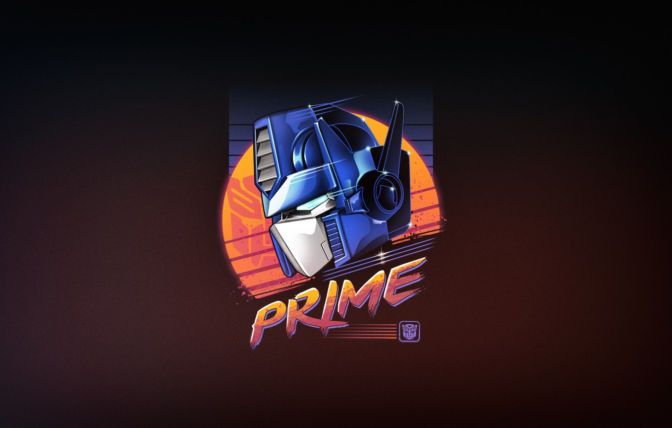 Photo wallpaper Robot, 80s, Neon, Transformers, Optimus Prime, Optimus Prime, Transformer, Prime, Convoy, Optimus, 80's, Synth, Prime, …