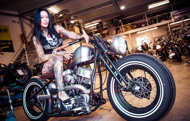 Wallpaper Girl Motorcycle Femke Fatale Images For Desktop