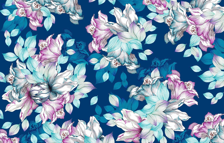 Photo wallpaper flowers, pattern, texture