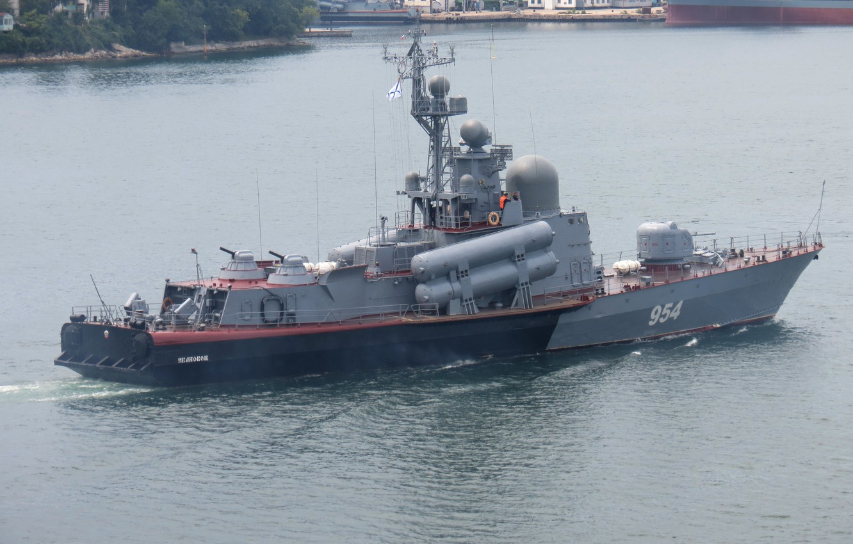 Photo wallpaper large, boat, rocket, Navy, Ivanovets