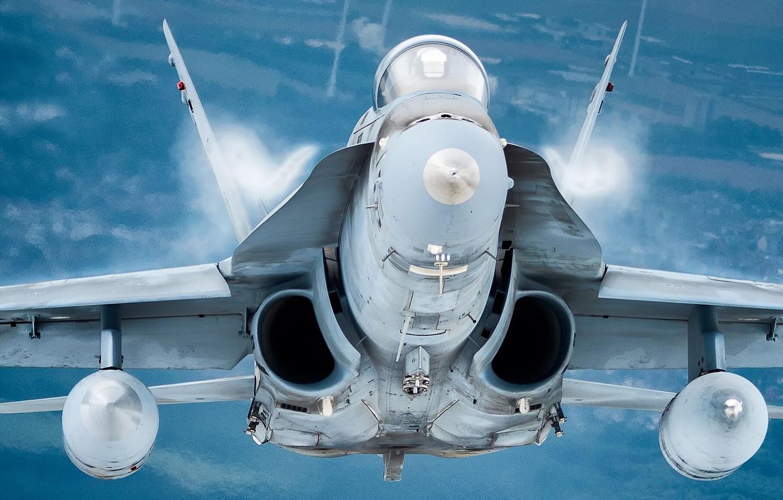 Wallpaper Fighter The Effect Of Prandtl Glauert F A 18 Hornet