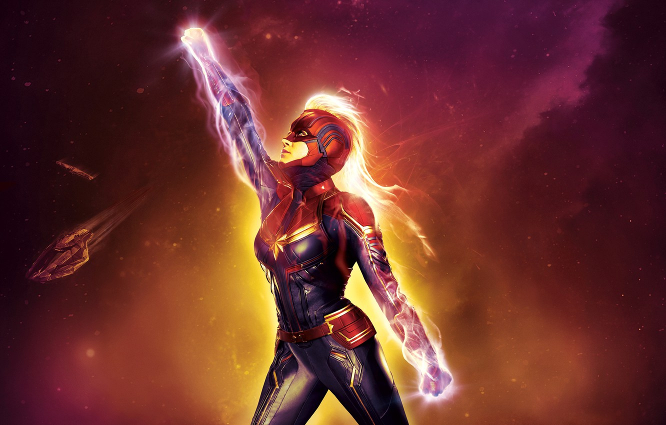 Photo wallpaper Girl, Light, Action, Fire, Beautiful, Stars, Space, Earth, Planet, Galaxy, Warrior, Female, spaceship, Marvel, Eyes, ...