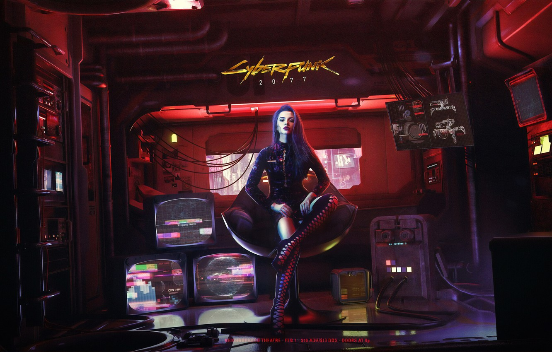 Photo wallpaper Girl, The game, Style, Fantasy, Art, Art, Fiction, Cyborg, Illustration, Cyborg, Cyberpunk 2077, Characters, Cyberpunk, …