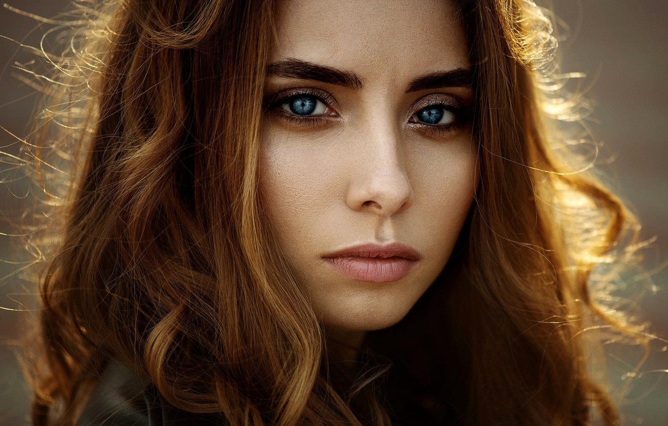 Photo wallpaper look, close-up, face, model, portrait, makeup, hairstyle, brown hair, beauty, Natalya, Ann Nevreva